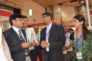 Dr. S.K. Saxena, Director EIC , visiting our stall at International Lab Expo-2013