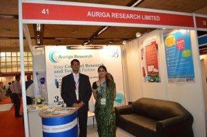 Dr. Neha Arora and Mr. MAnish Ranjan at the International Lab Expo-2013