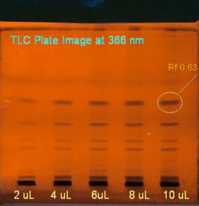 Chromatographic fingerprinting by HPTLC